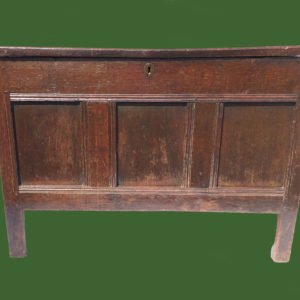 C18th Oak Panel Chest