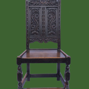C19th Carved Oak Side Chair