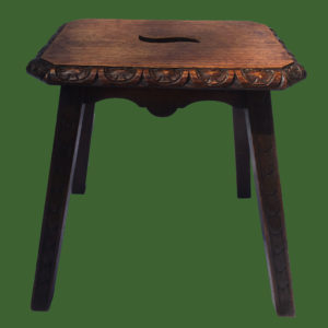 Carved Oak Stool