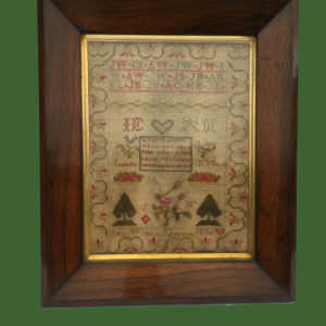 Rosewood Framed Sampler