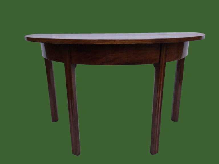 Mahogany Demilune Table