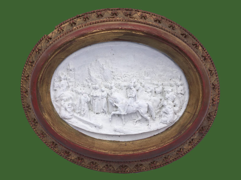 Framed Plaster Plaque