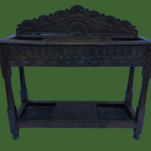 Victorian Oak Hall Stand