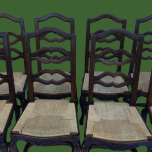 C18th Oak Dining Chairs