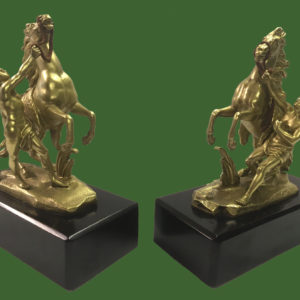 Gilt Bronze Marly Horses