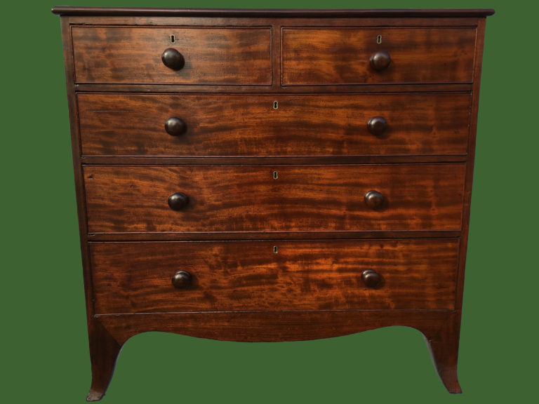 Flame Mahogany Chest of Drawers