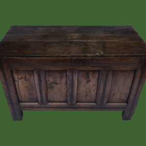 C17th Oak Panel Chest