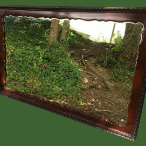 C19th Mahogany Mirror