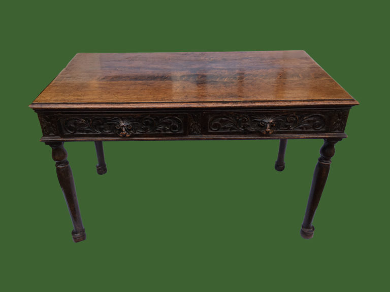C19th Carved Oak Table