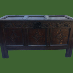 C17th Carved Coffer